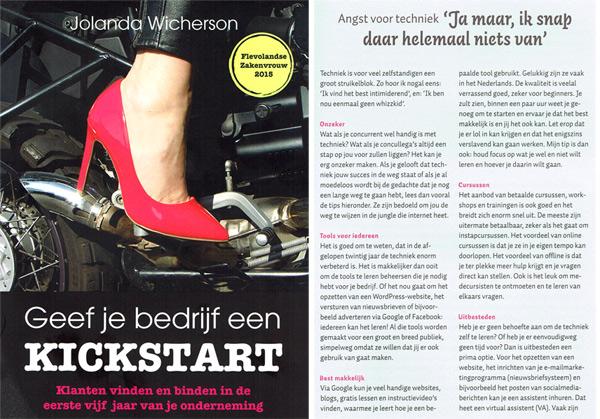 Geef je bedrijf een kickstart, boek Jolanda Wichterson, bijdrage Thijs van Halewijn