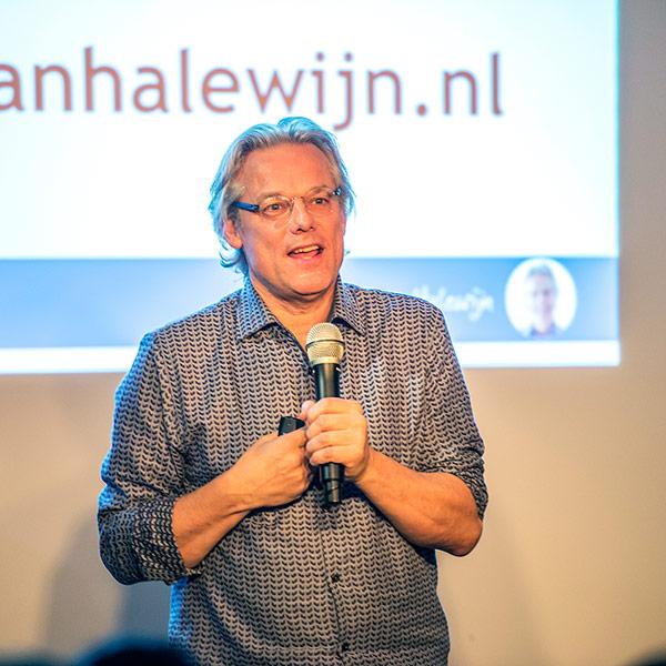 Thijs van Halewijn, spreker op het storytelling event van Yvette Tick, Utrecht]